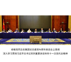 俞敏亮同志在集团纪念建党96周年座谈会上强调